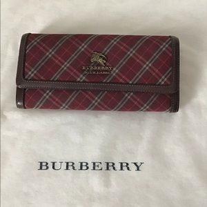 👛 Authentic BURBERRY Blue Label Nova Check Wallet